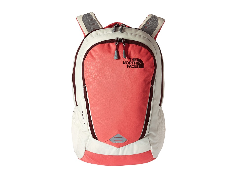 The North Face - Women's Vault (Calypso Coral Emboss/Deep Garnet Red) Backpack Bags