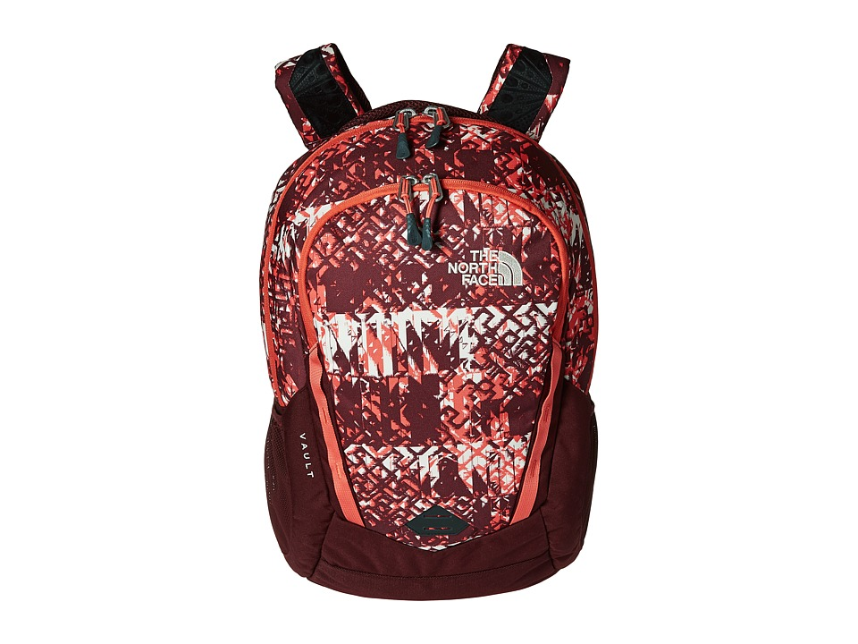 The North Face - Women's Vault (Deep Garnet Red Ethnique Print/Deep Garnet Red) Backpack Bags