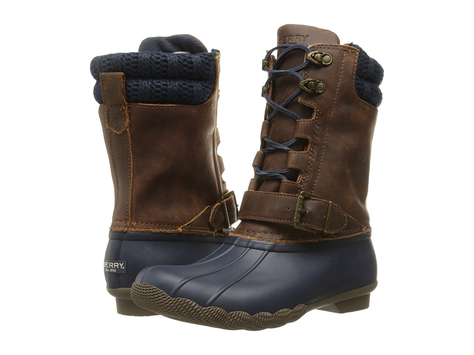 Sperry - Saltwater Misty (Navy/Brown) Women's Rain Boots