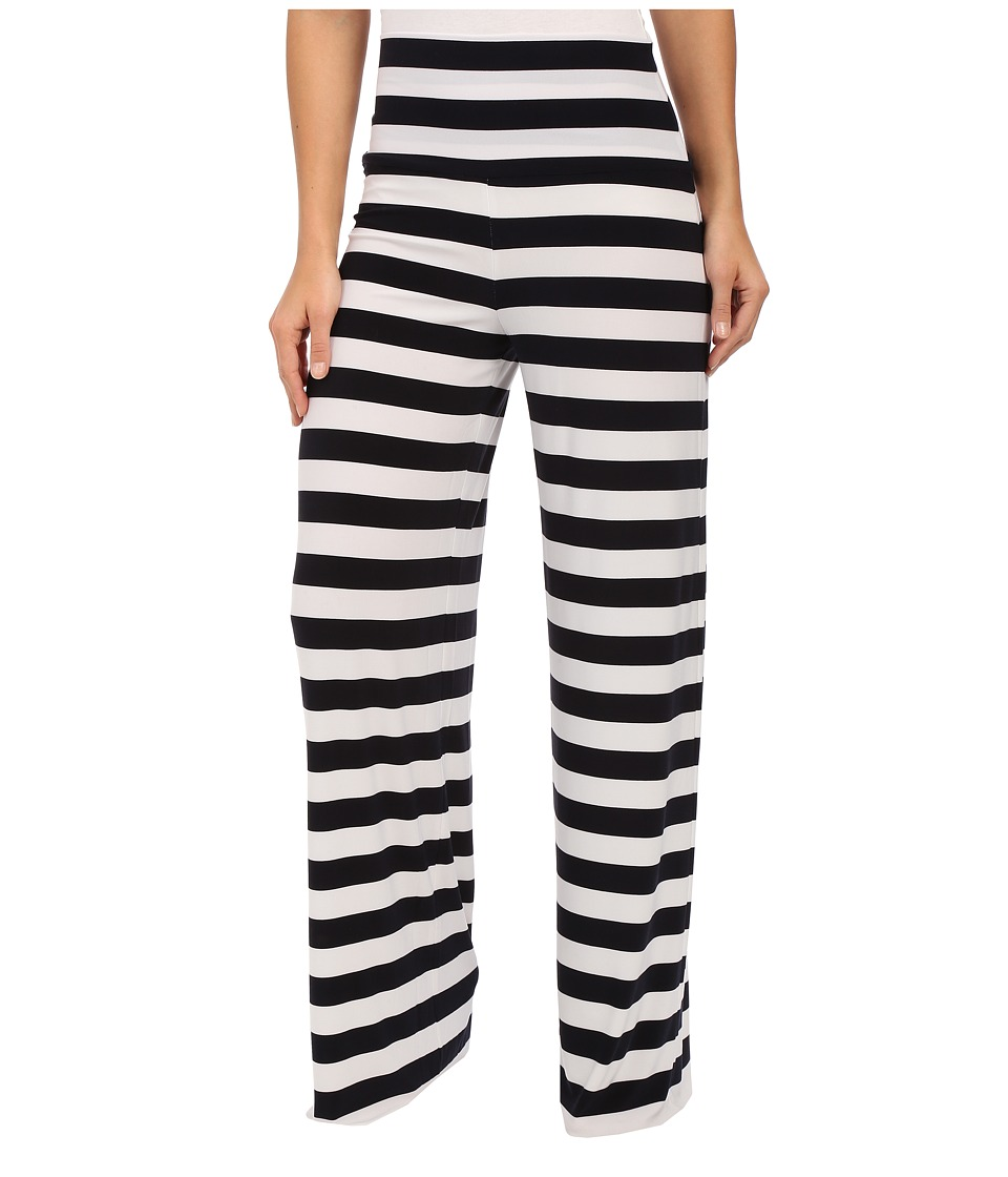 KAMALIKULTURE by Norma Kamali - Straight Leg Pants Go (Midnight/White Stripe) Women's Casual Pants