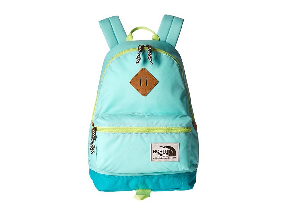 The North Face - Mini Berkeley (Little Kid/Big Kid) (Ice Green/Sharp Green) Backpack Bags