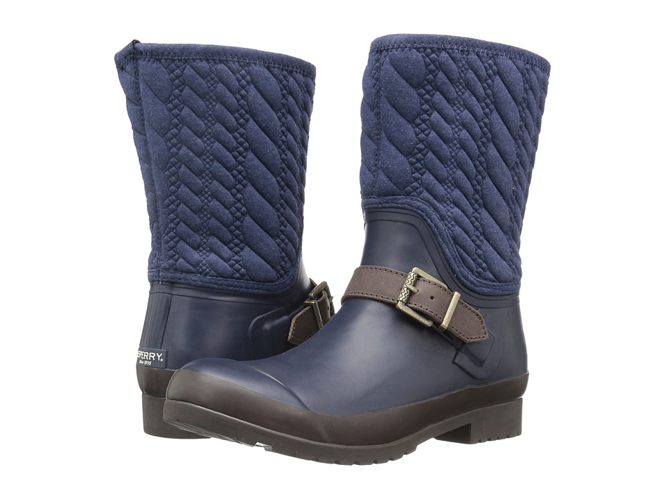 Sperry - Walker Gray Rope Emboss Neoprene (Navy) Women's Boots