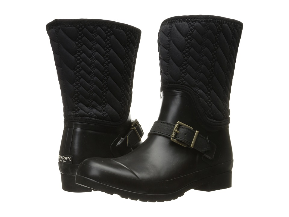 Sperry - Walker Gray Rope Emboss Neoprene (Black) Women's Boots