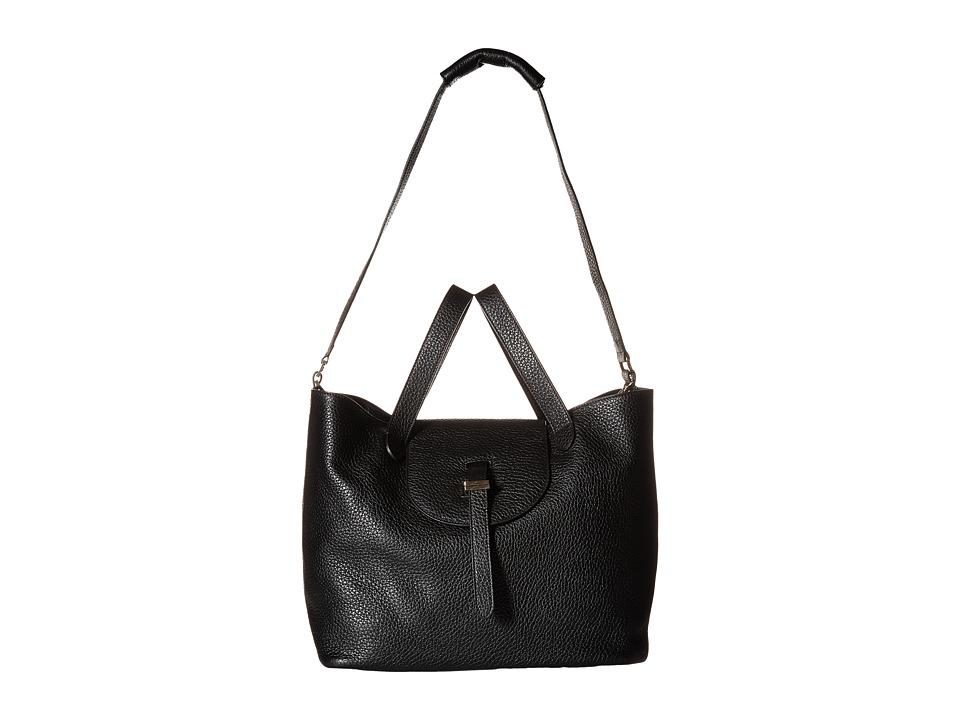 meli melo - Thela (Black Floater) Shoulder Handbags