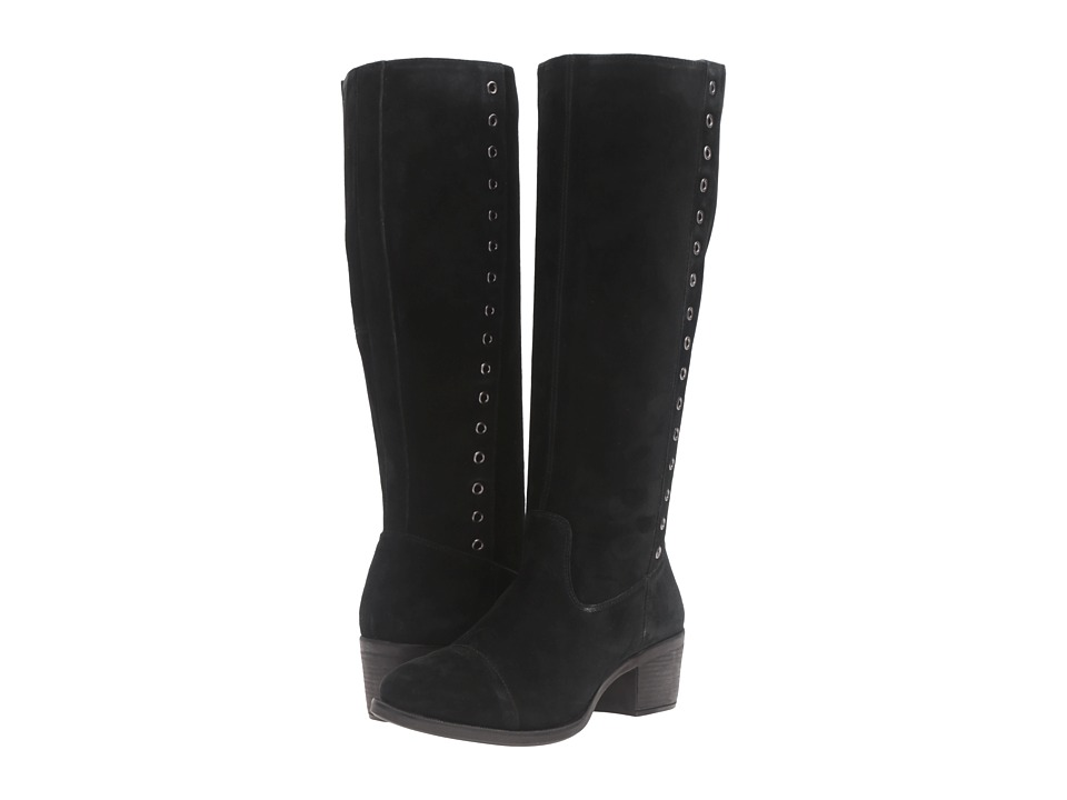 Hush Puppies - Ideal Nellie (Black Suede) Women's Boots