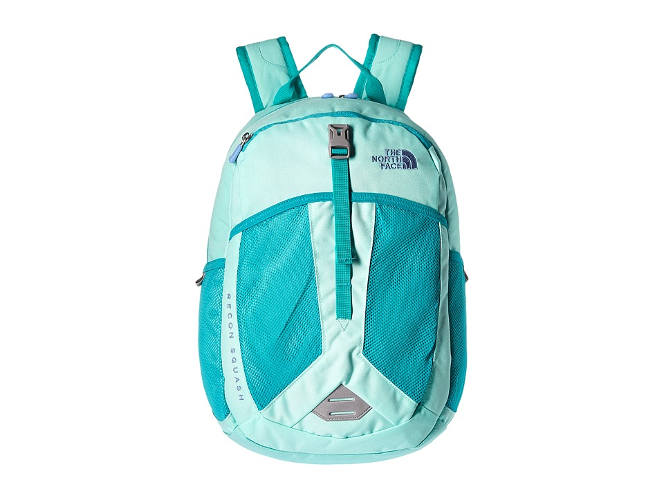 The North Face - Recon Squash (Big Kid) (Ice Green/Ion Blue) Backpack Bags