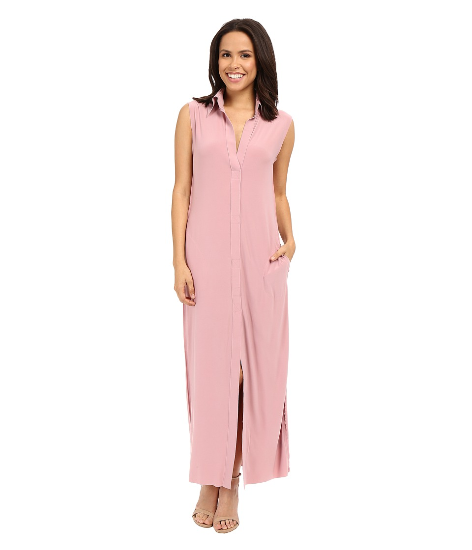 KAMALIKULTURE by Norma Kamali - Sleeveless Long NK Shirt (Pink) Women's Dress