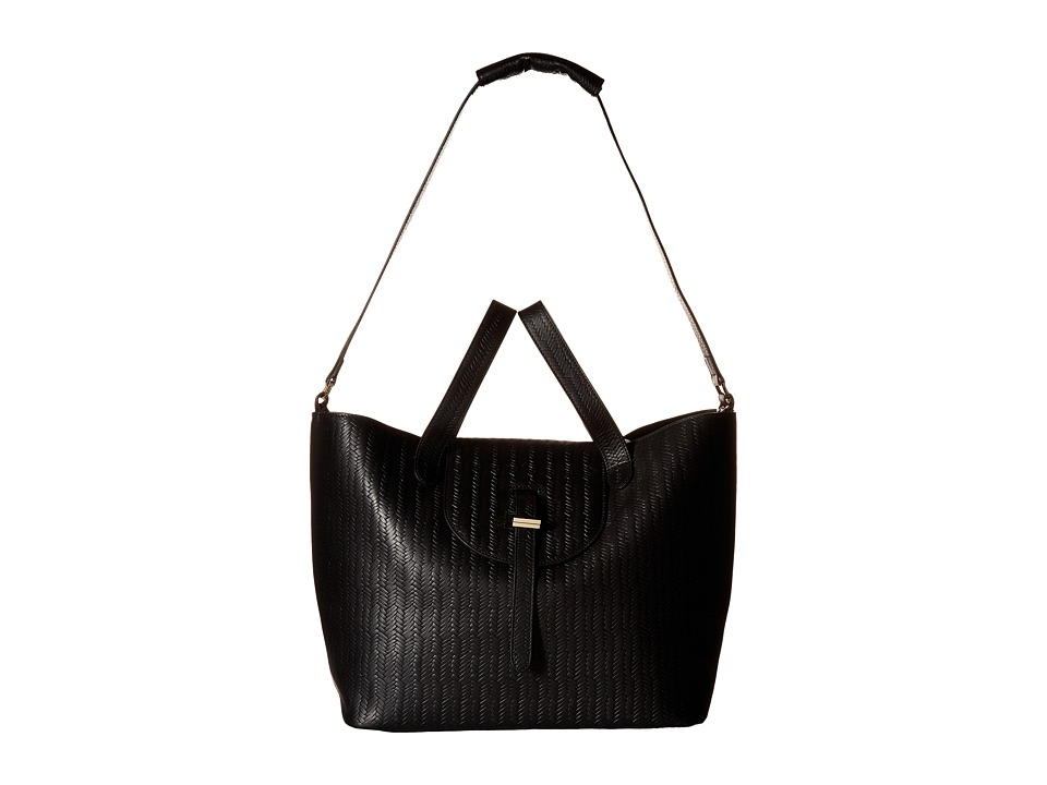 meli melo - Thela Medium (Black Woven) Handbags