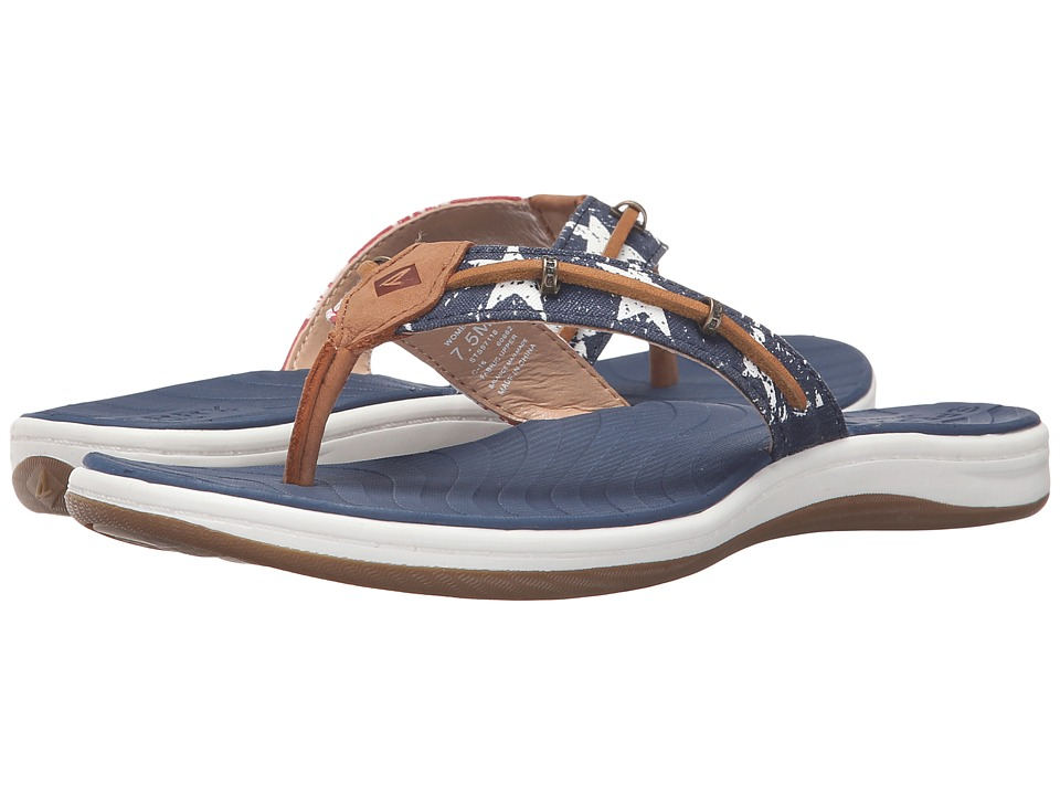 Sperry - Seabrook Wave Stars and Stripes (Red/White/Blue) Women's Sandals
