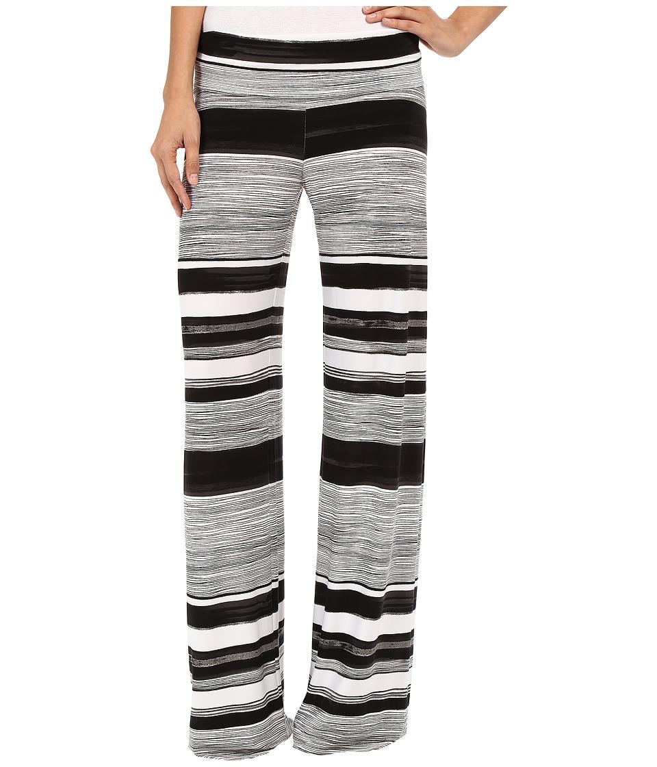 KAMALIKULTURE by Norma Kamali - Straight Leg Pants Go (Writing Stripe) Women's Casual Pants