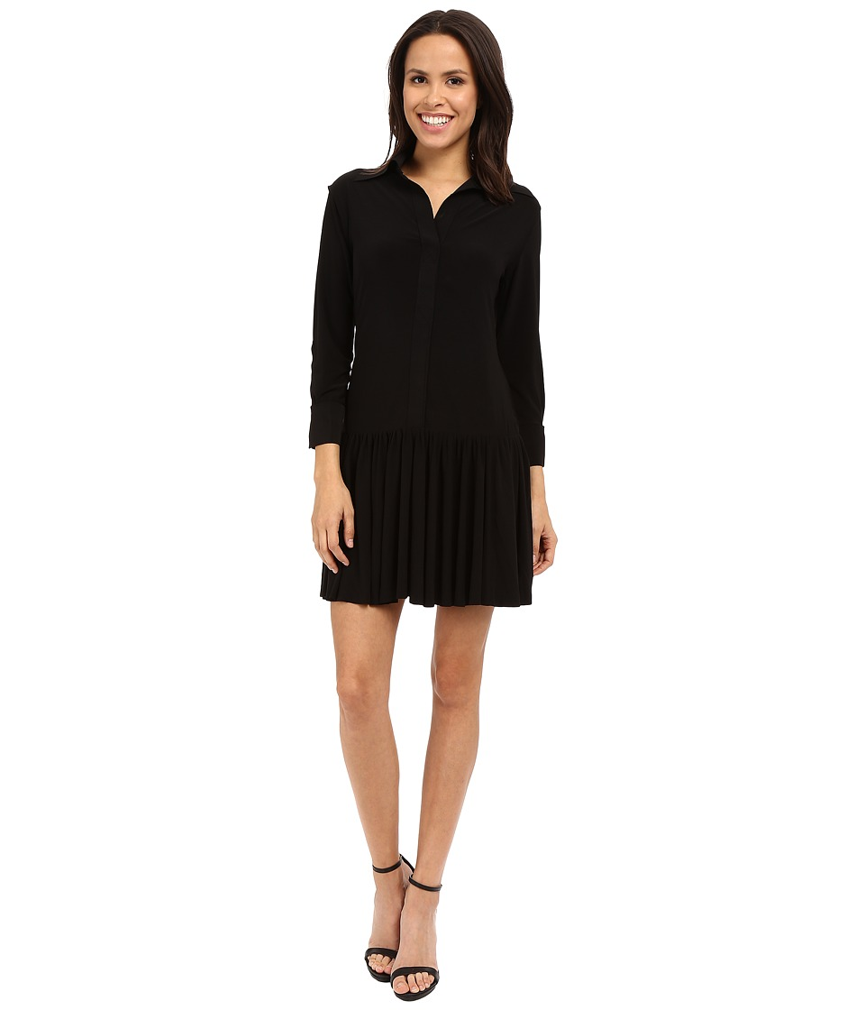 KAMALIKULTURE by Norma Kamali - NK Ra Ra Shirtdress (Black) Women's Dress