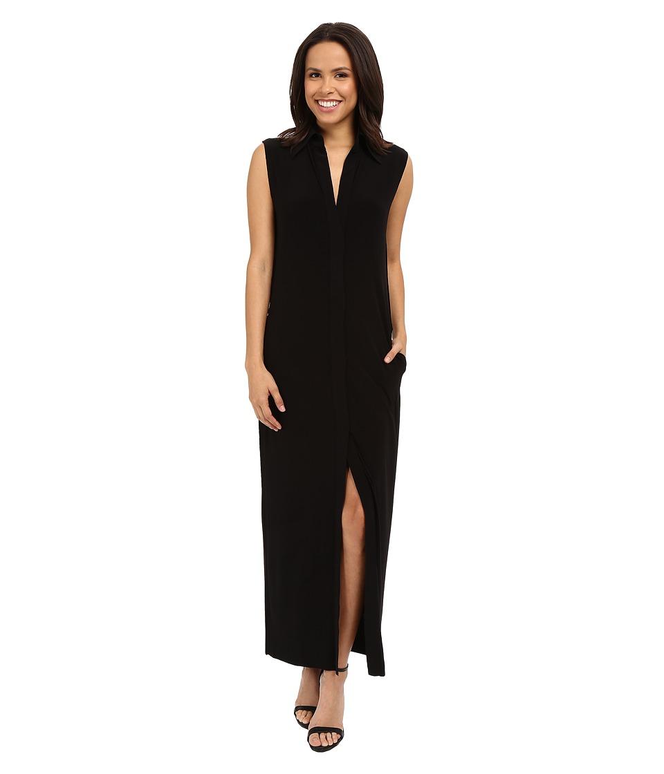 KAMALIKULTURE by Norma Kamali - Sleeveless Long NK Shirt (Black) Women's Sleeveless