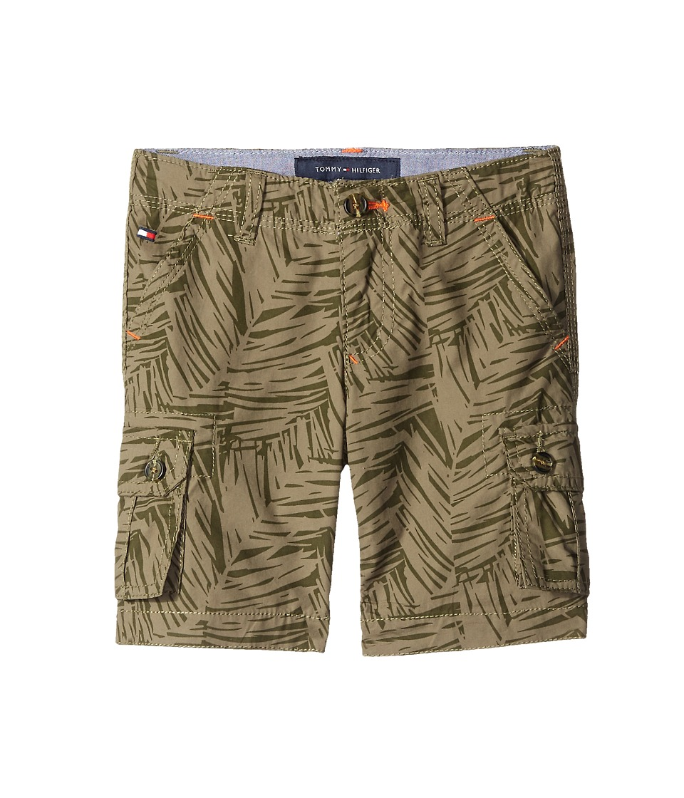 Tommy Hilfiger Kids - Printed Palm Leaf Cargo Shorts (Big Kids) (Dusty Olive) Boy's Shorts