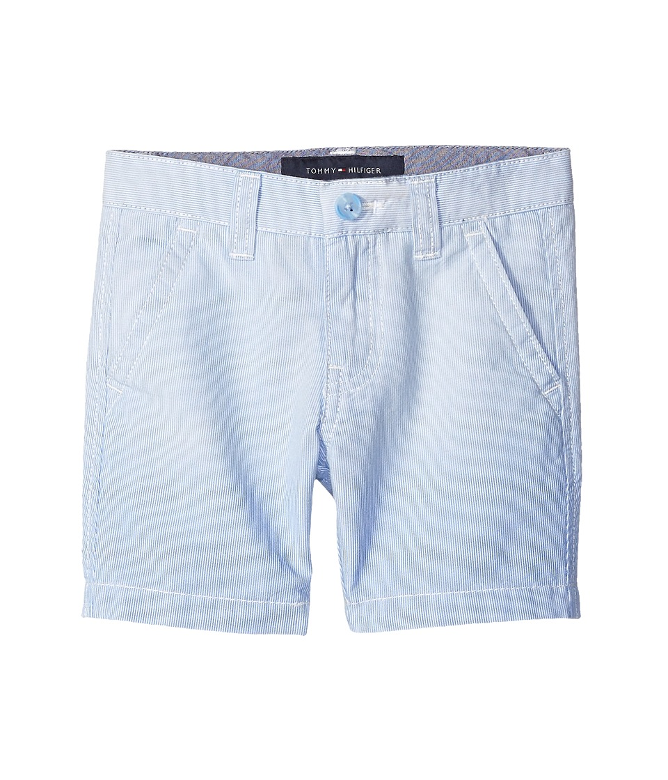 Tommy Hilfiger Kids - Dip Dye Railroad Stripe Flat Front Shorts (Big Kids) (Bright Blue) Boy's Shorts