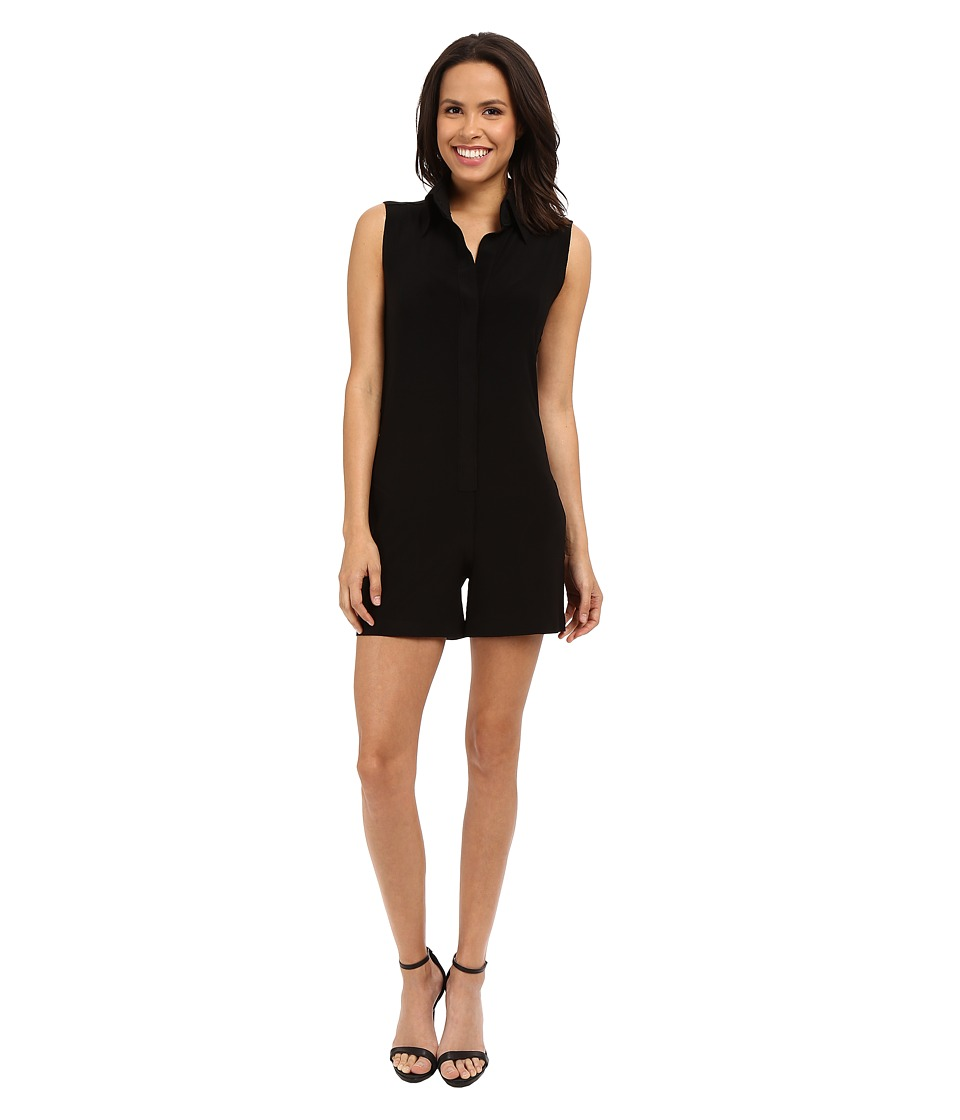 KAMALIKULTURE by Norma Kamali - Sleeveless NK Shirt Jumpshorts (Black) Women's Jumpsuit & Rompers One Piece