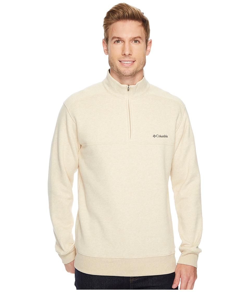 Columbia - Hart Mountaintm II Half Zip (Oatmeal Heather) Men's Long Sleeve Pullover