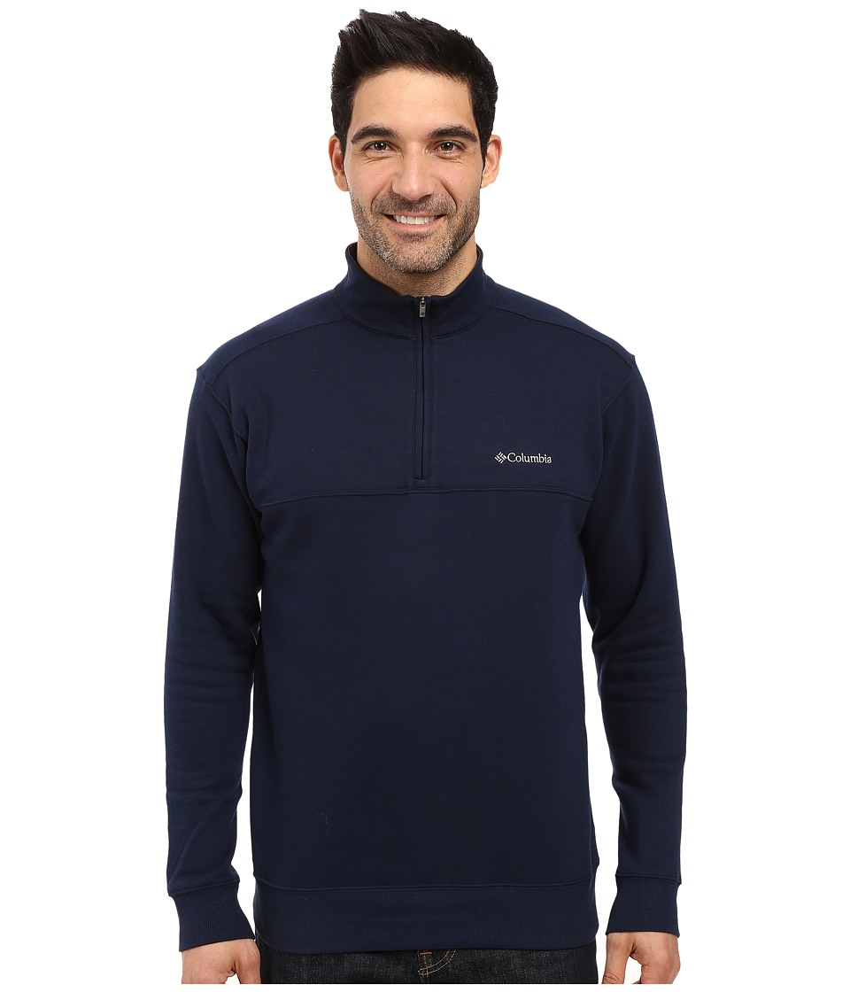 Columbia - Hart Mountain II Half Zip (Collegiate Navy) Men's Long Sleeve Pullover