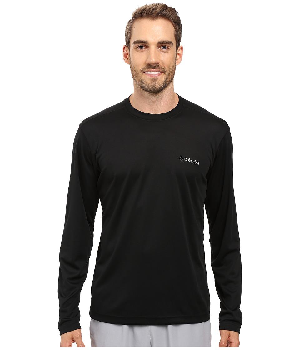 Columbia - Meeker Peak Long Sleeve Crew (Black) Men's Long Sleeve Pullover