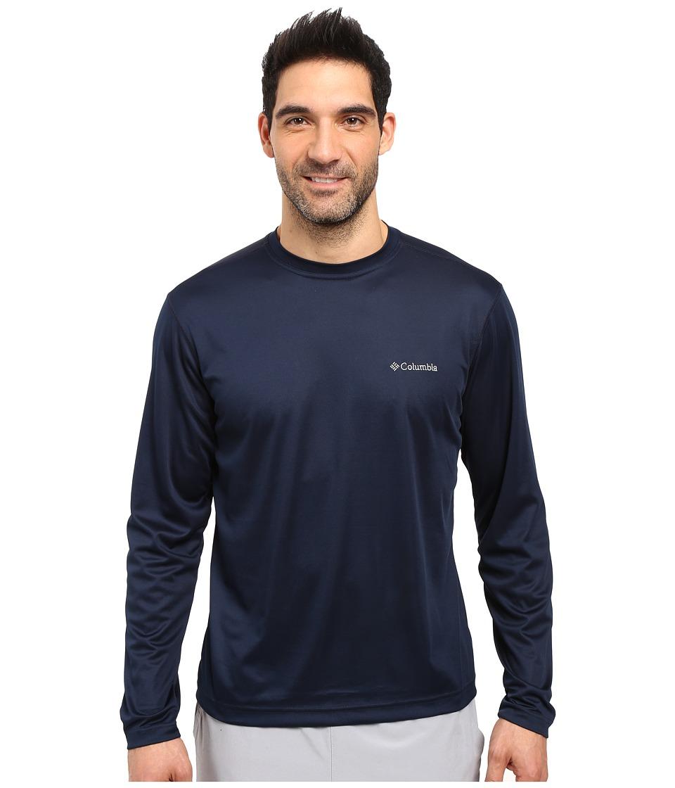 Columbia - Meeker Peak Long Sleeve Crew (Collegiate Navy) Men's Long Sleeve Pullover