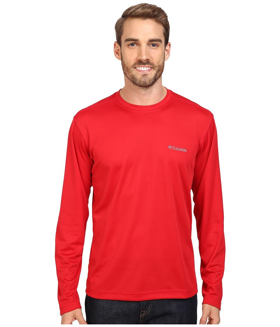 Columbia - Meeker Peak Long Sleeve Crew (Mountain Red) Men's Long Sleeve Pullover