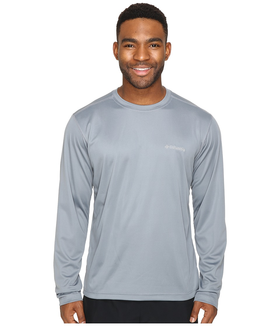 Columbia - Meeker Peak Long Sleeve Crew (Grey Ash) Men's Long Sleeve Pullover