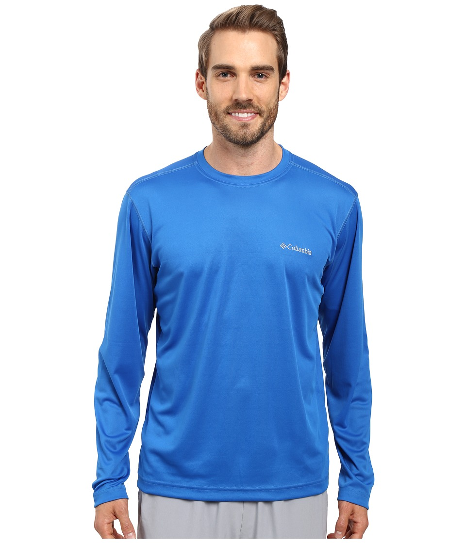 Columbia - Meeker Peak Long Sleeve Crew (Super Blue) Men's Long Sleeve Pullover