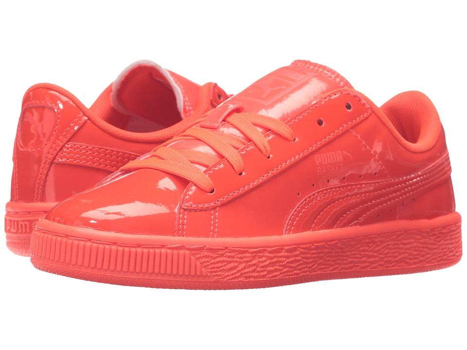 Puma Kids - Basket Classic Patent Jr (Big Kid) (Red Blast/Red Blast) Kids Shoes