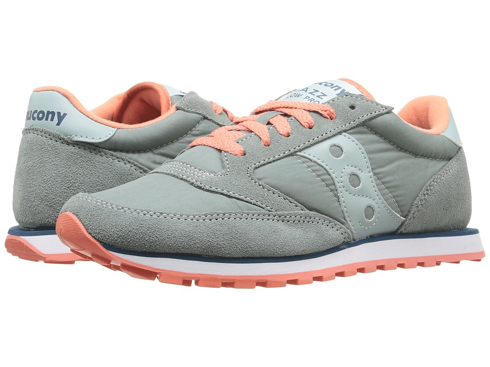 Saucony Originals - Jazz Low Pro (Grey/Blue/Coral) Women's Classic Shoes
