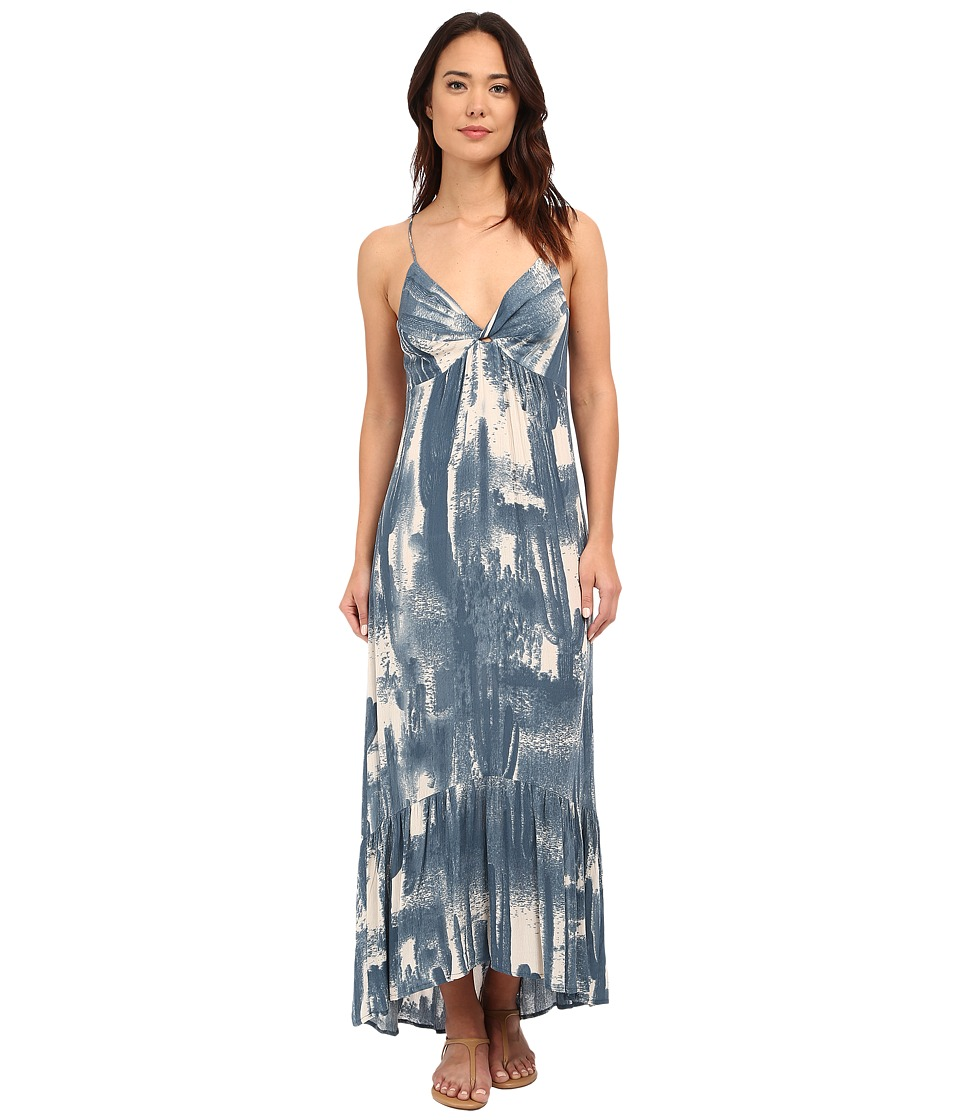 Brigitte Bailey - Rahil Blured Cactus Maxi Dress (Salt Blue/Natural) Women's Dress