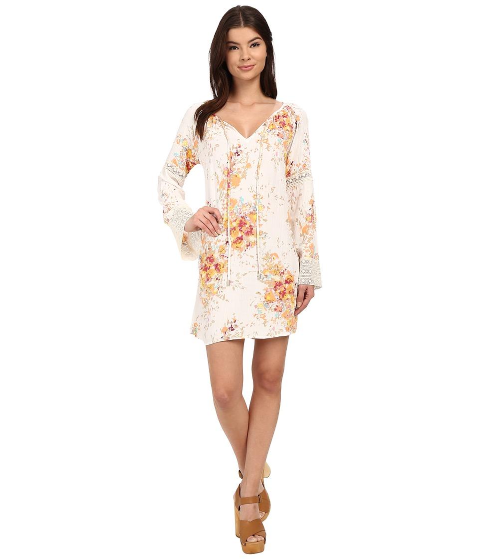 Brigitte Bailey - Bara Printed Dress (Melon/Pink/Natural) Women's Dress