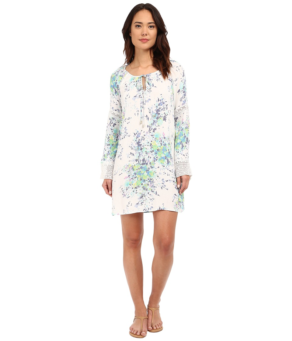 Brigitte Bailey - Bara Printed Dress (Aqua/Lemon/Natural) Women's Dress