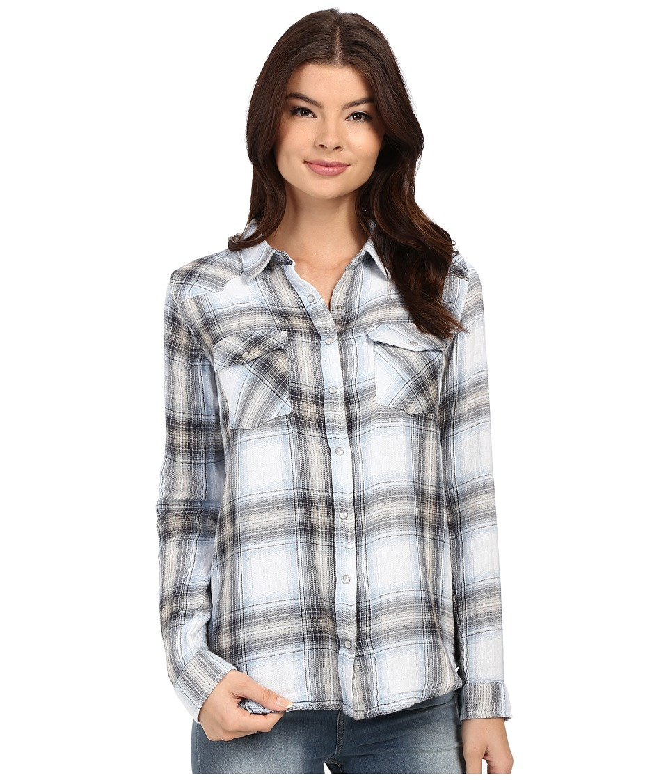 Brigitte Bailey - Tania Plaid Shirt (Black/Light Blue) Women's Clothing