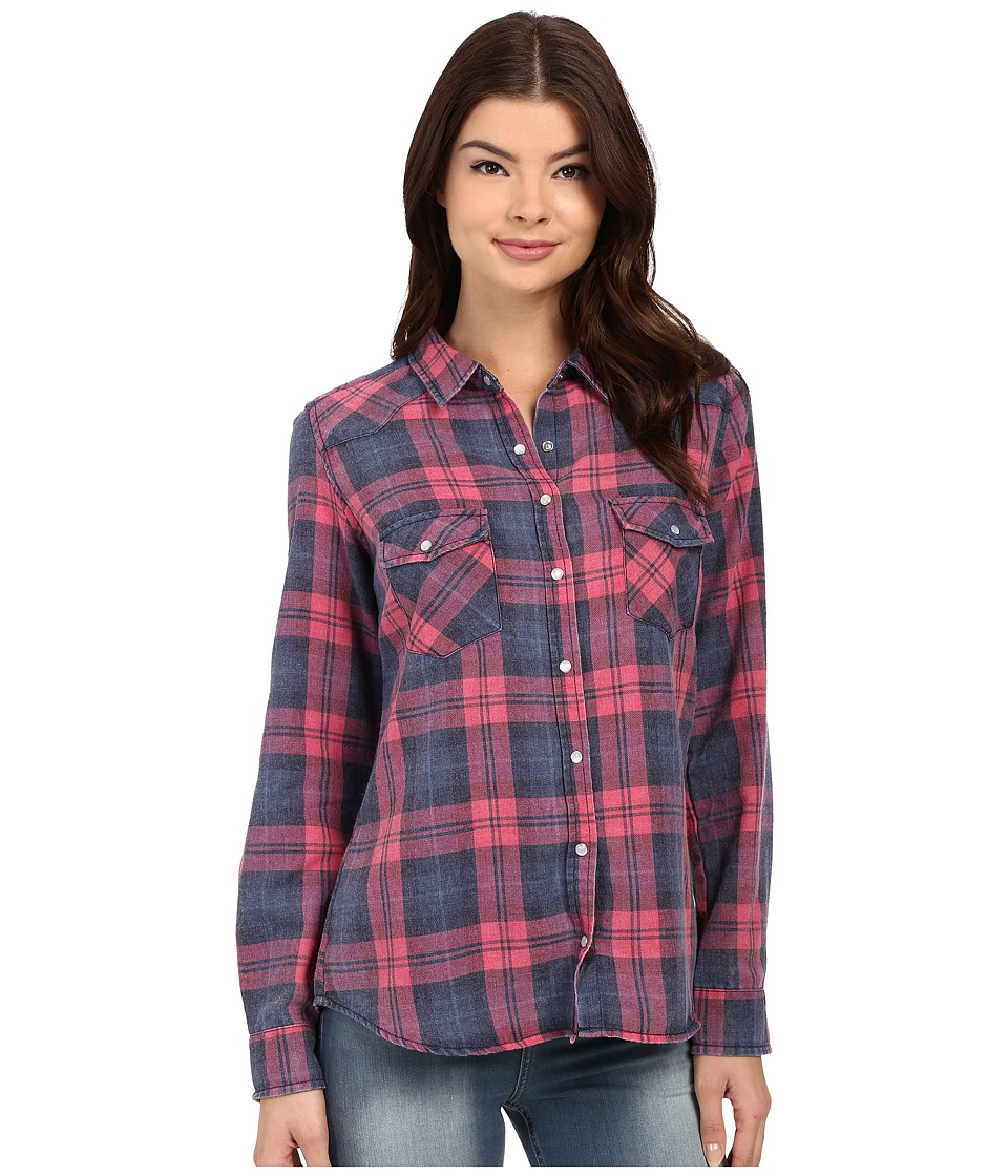 Brigitte Bailey - Tania Plaid Shirt (Blue/Pink) Women's Clothing