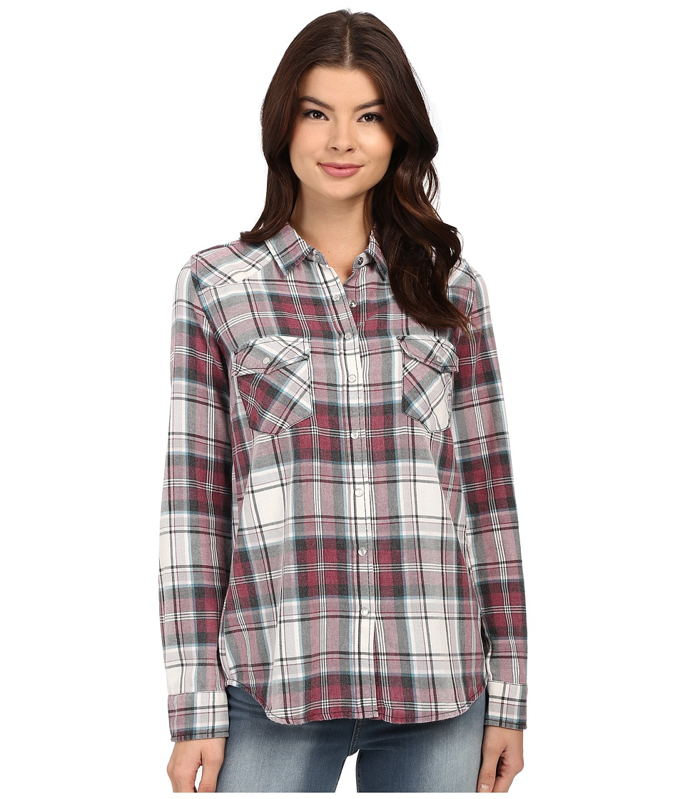 Brigitte Bailey - Tania Plaid Shirt (Burg/Aqua/Off) Women's Clothing