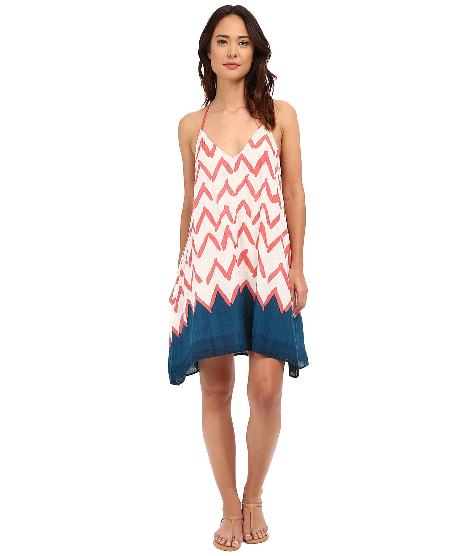 Brigitte Bailey - Roman Printed Tank Dress (Teal/Coral) Women