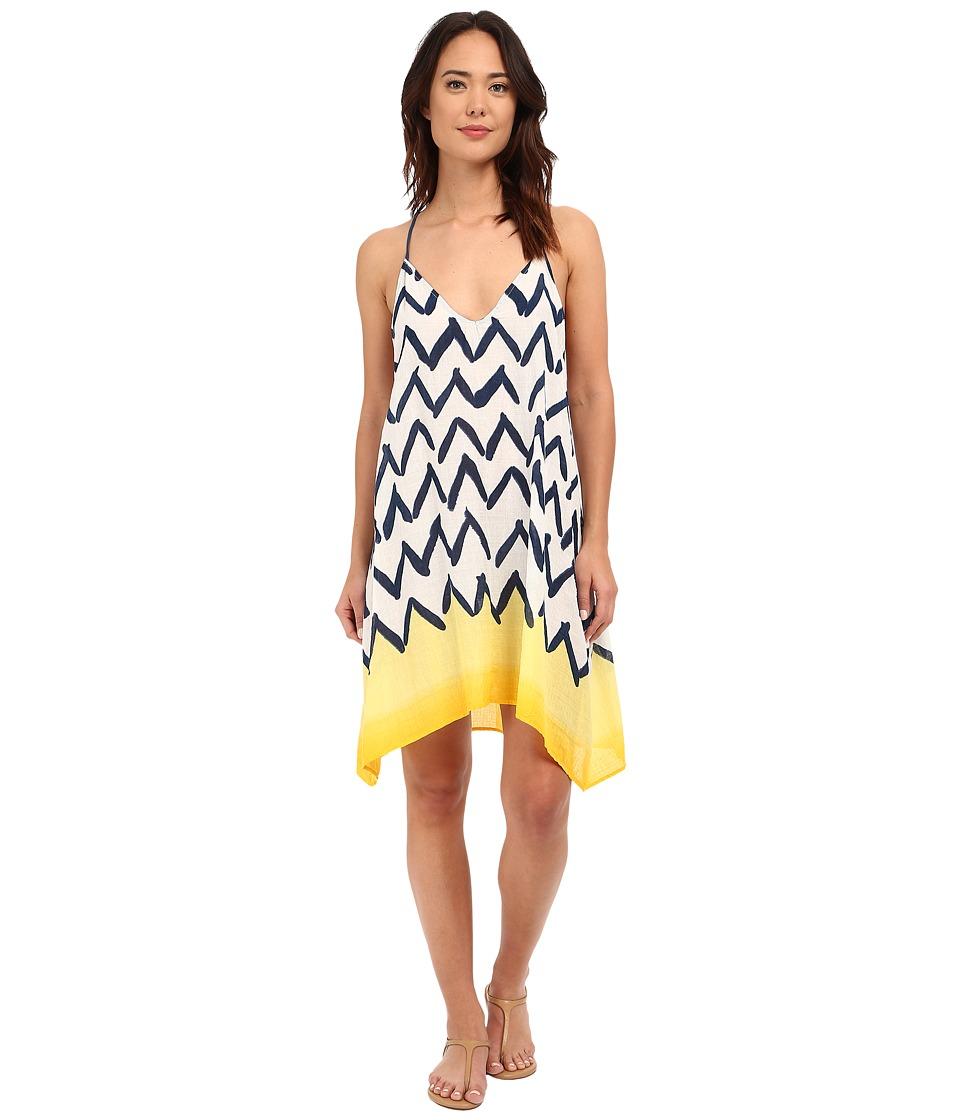 Brigitte Bailey - Roman Printed Tank Dress (Yellow/Teal) Women's Dress