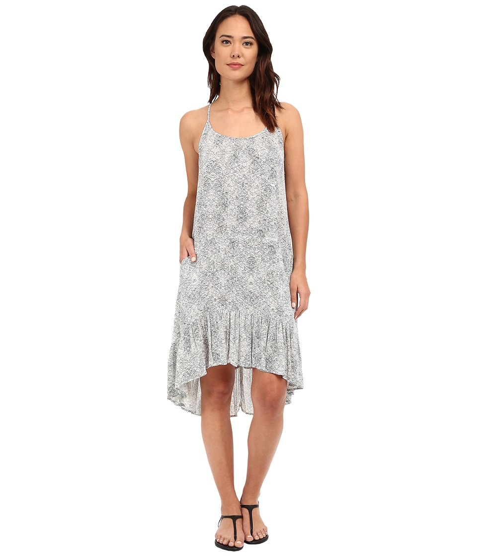 Brigitte Bailey Alena Printed Tank Dress (Grey/Off-White) Women's Dress