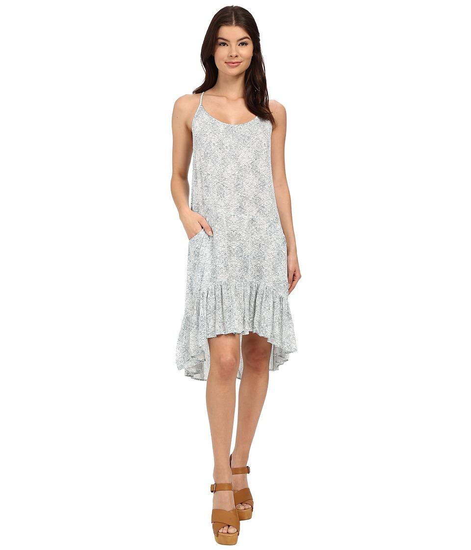 Brigitte Bailey Alena Printed Tank Dress (Teal/Off-White) Women