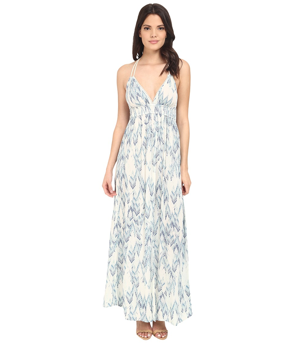 Brigitte Bailey - Helenka Printed Maxi Dress (Blue Combo) Women's Dress