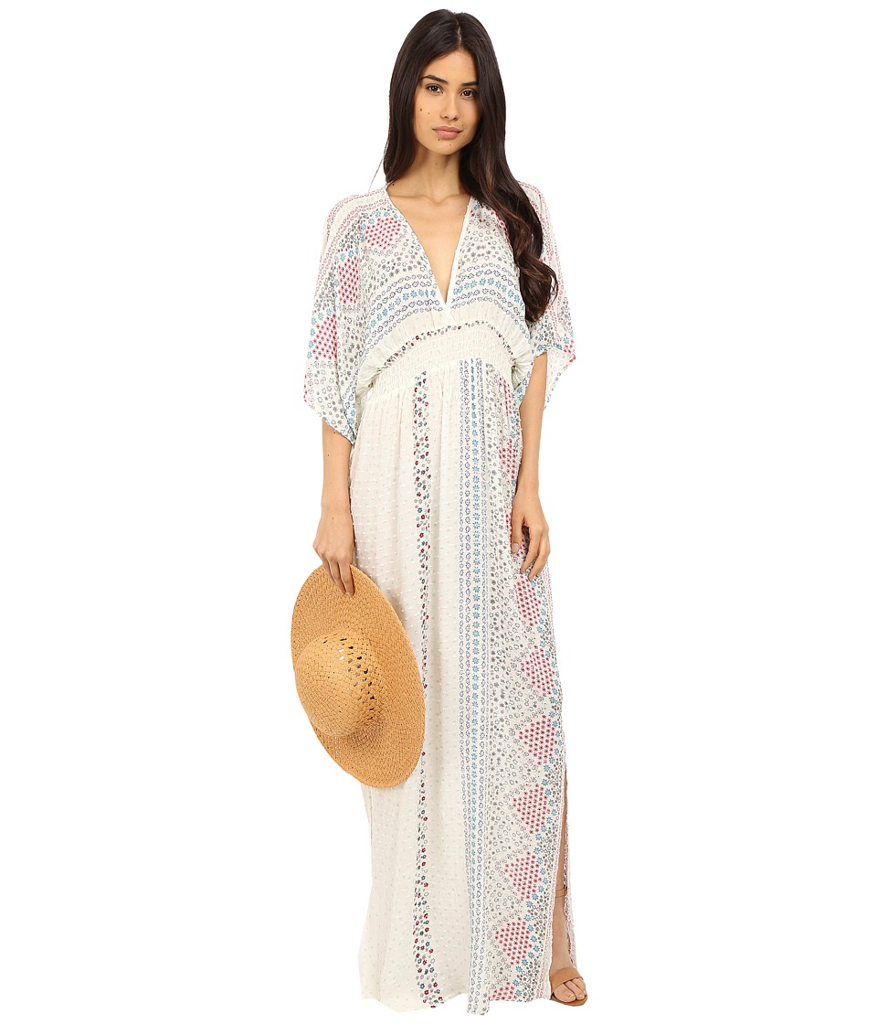 Brigitte Bailey - Alexi All Over Print Maxi Dress (Blue/Red/Natural) Women's Dress