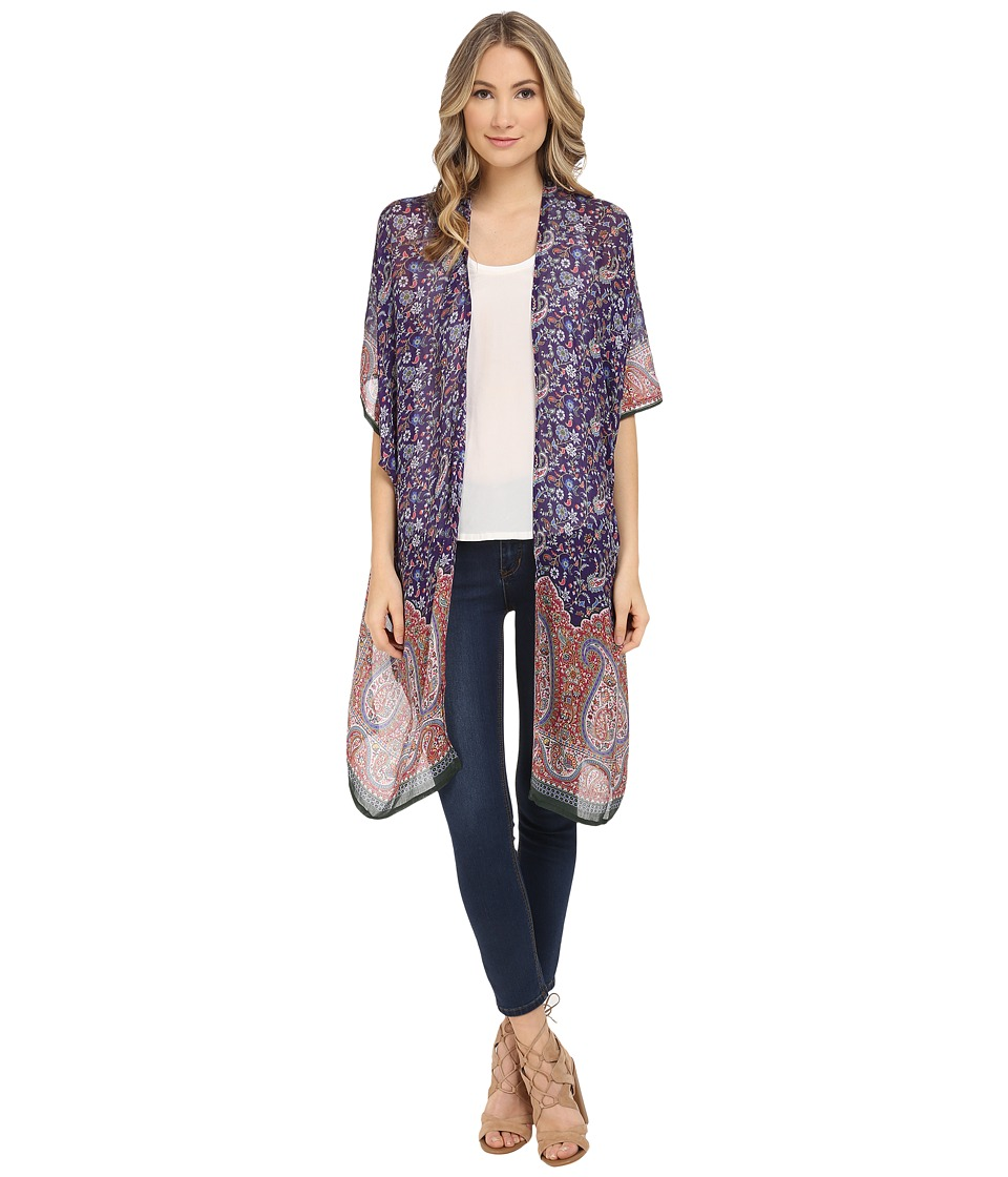 Bindya - Ethnica Kimono (Purple Multi) Women's Blouse