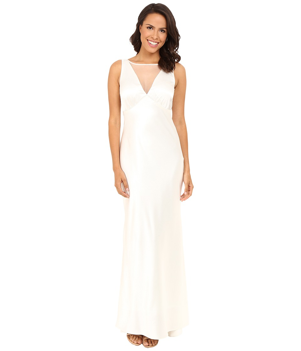 rsvp - Darcy Long Satin Gown (Ivory) Women's Dress