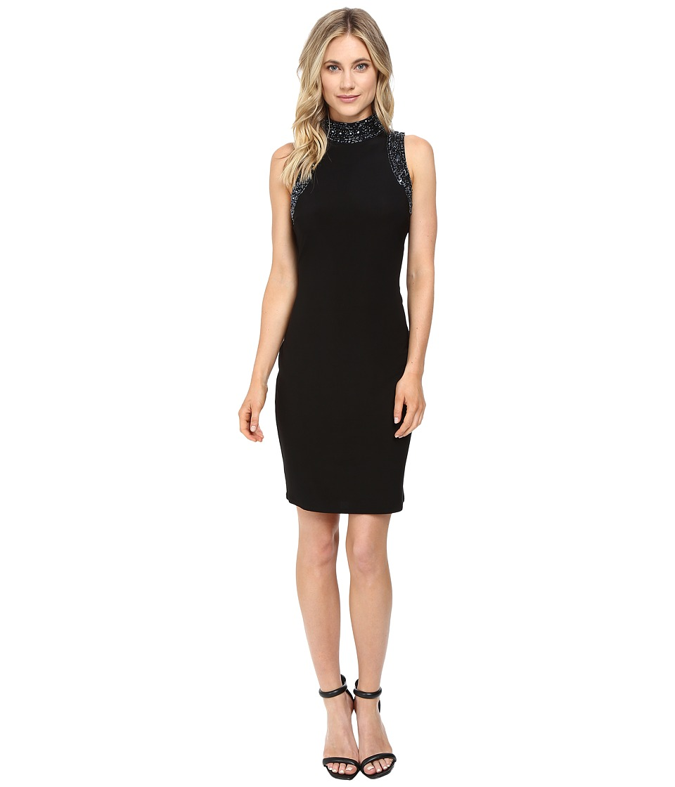 rsvp - Ceara Sheath Dress (Black/Gunmetal) Women's Dress
