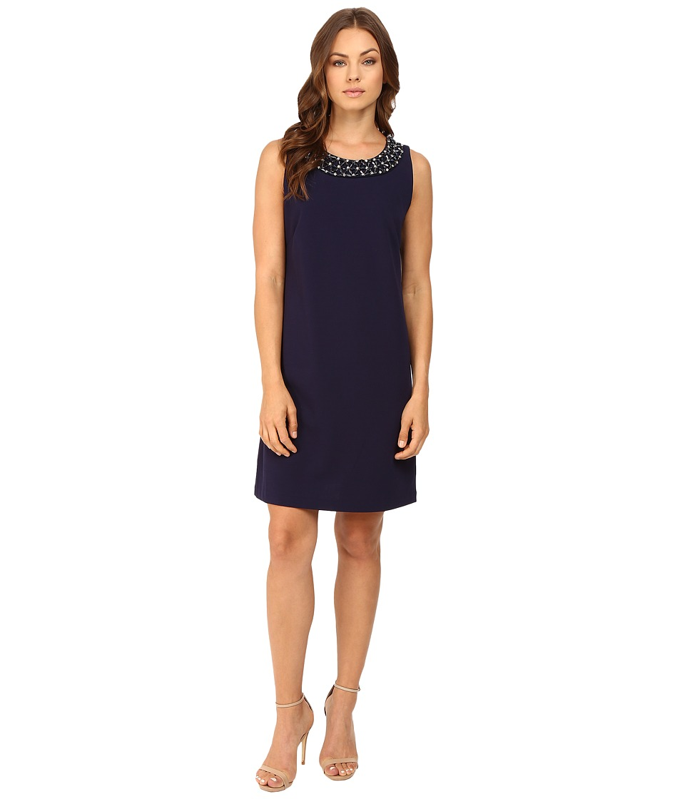 rsvp - Kaleigh Necklace Dress (Navy) Women's Dress