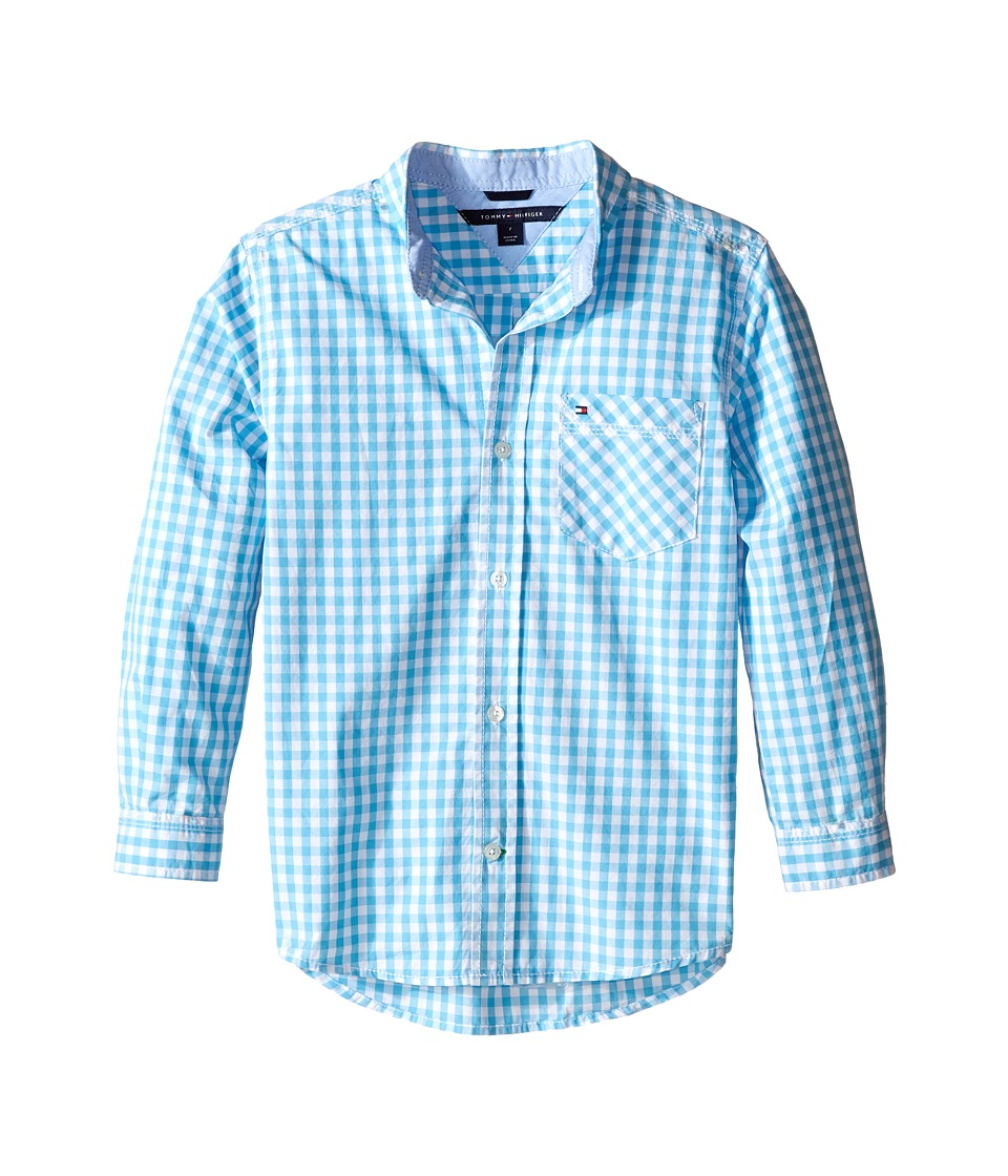 Tommy Hilfiger Kids - Fashion Baxter Woven Shirt (Toddler/Little Kids) (Zen Blue) Boy's Clothing