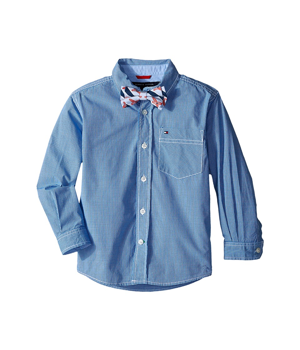 Tommy Hilfiger Kids - Johnny Woven Shirt (Toddler/Little Kids) (Royal) Boy's Clothing