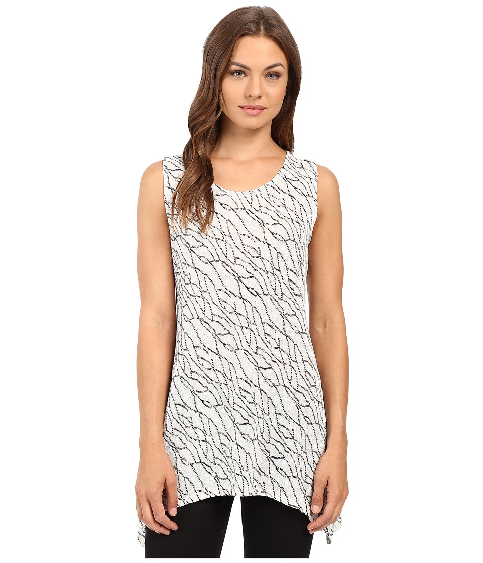 rsvp - Caitriona Top w/ Sparkle (Ivory/Black) Women's Clothing