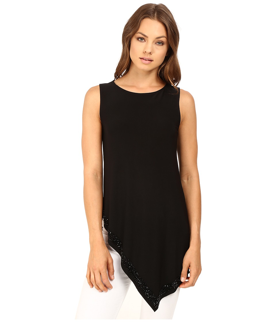 rsvp - Alanis Sleeveless Top w/ Beading (Black) Women's Sleeveless