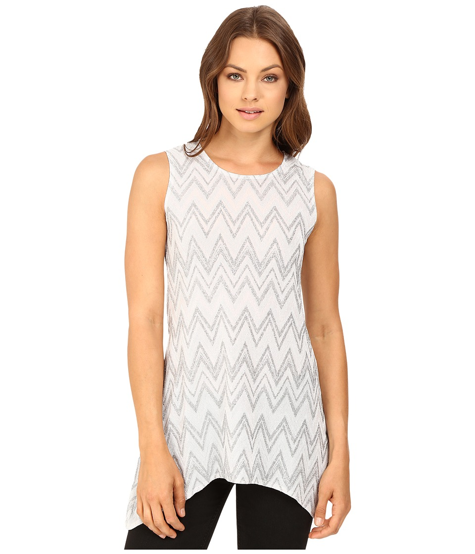 rsvp - Bridgette Chevron Top (White/Silver) Women's Clothing
