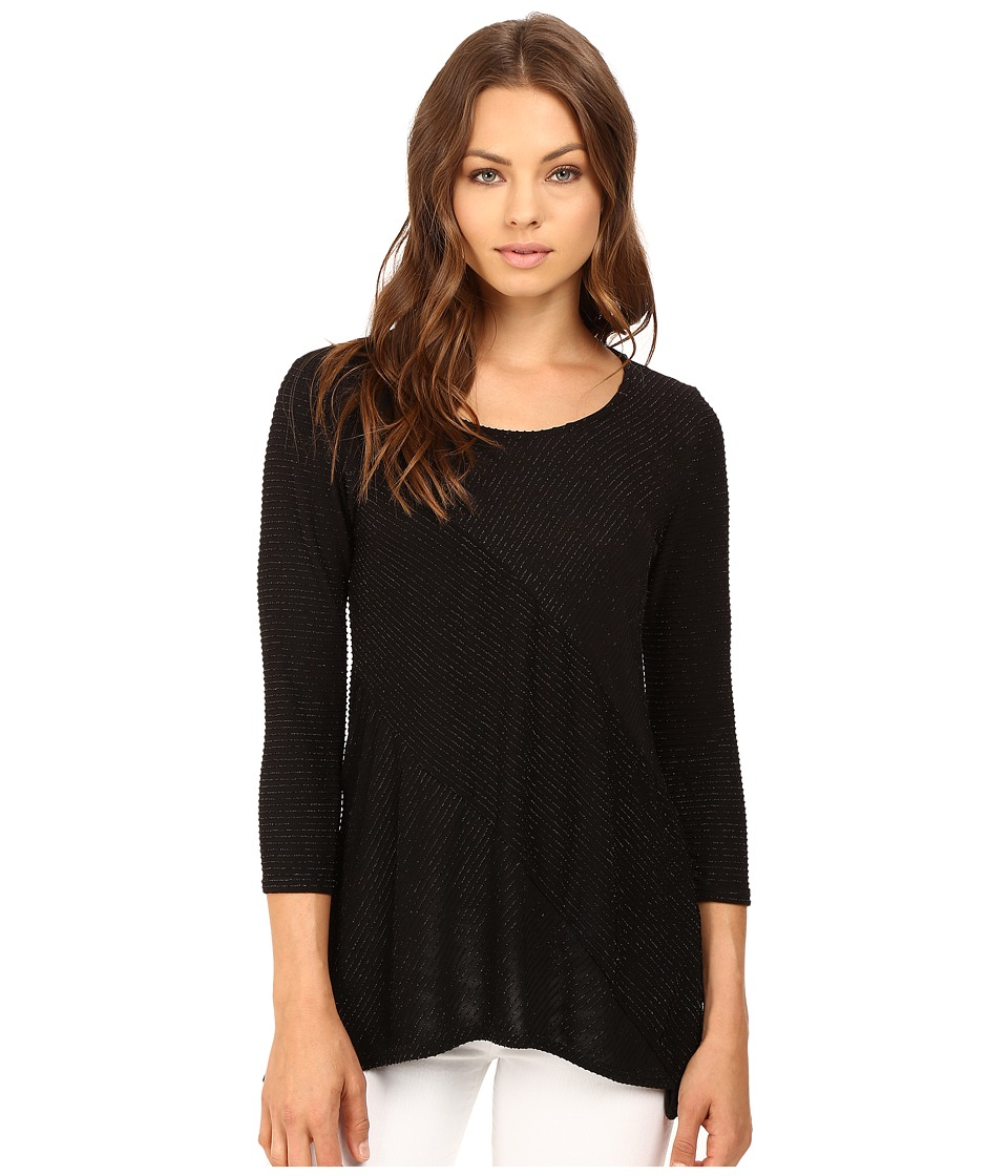 rsvp Breanna Striped Top (Black) Women's Clothing
